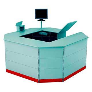 caixa ilha - Confira quais são os móveis para farmácias mais adequados para fazer a exposição dos produtos