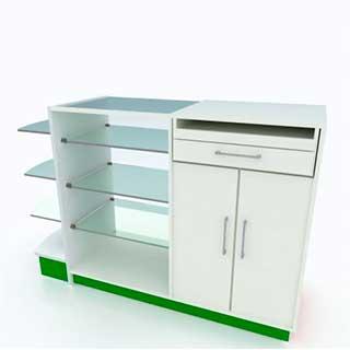 caixa misto expositor vidro - Confira quais são os móveis para farmácias mais adequados para fazer a exposição dos produtos