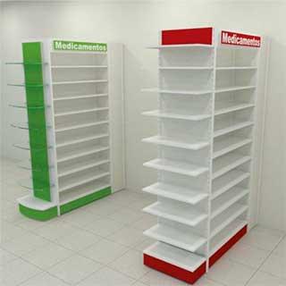 gondola torre - Confira quais são os móveis para farmácias mais adequados para fazer a exposição dos produtos